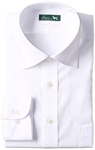 [フレックスジャパン] ケンコレクション 本縫い 綿100% 白 セミワイドカラー 長袖 DAKK01 メンズ 白 首回り39cm裄丈82cm (日本サイズM相当)