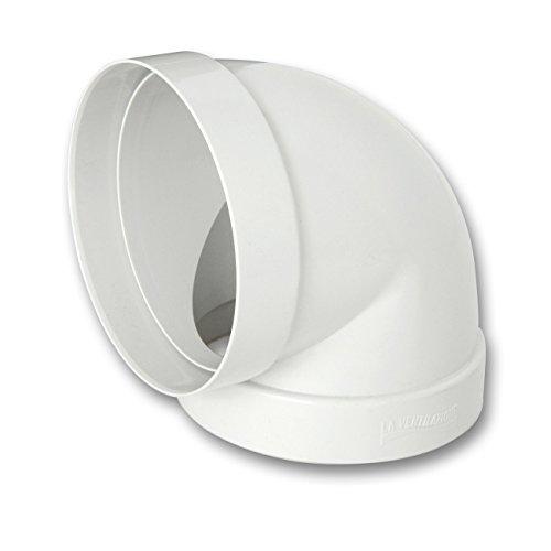 La Ventilazione CCR100B Curva 90° F/F in ABS per Aerazione Canalizzata, diametro 100 mm
