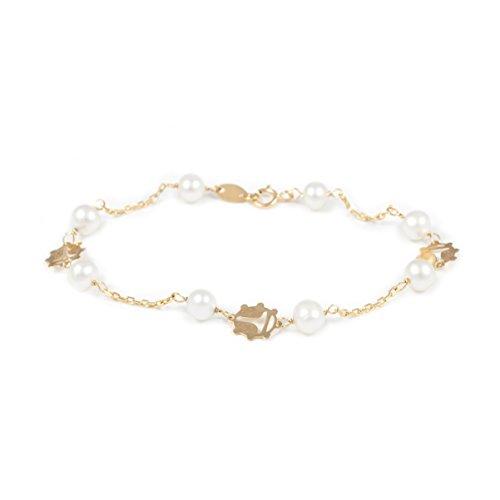 Bracciale perle - oro giallo 18k (750)