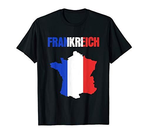Frankreich Flagge Fahne Land Urlaub T-Shirt
