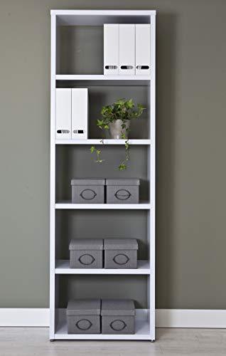 Topkit   Estanteria Florencia 6500   Medidas 208 x 66,5 x 33,5 cm   Estantería Clásica   Estantería Libros   Blanco