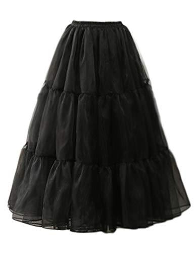 GRACE KARIN 50s Vintage Petticoat Abendkleid Brautkleid Fasching Fastnacht Kostüme Schwarz S 2512-1