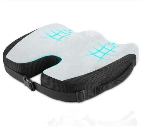 LSWL Memoria di Alta qualità in Schiuma Antiscivolo rimanenze Cuscino Pad, Cuscini di Seduta Auto Regolabili, Adulto Car Seat Booster Cuscini (Color : Grey)