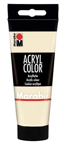 Marabu 12010050042 - Acryl Color sand 100 ml, cremige Acrylfarbe auf Wasserbasis, schnell trocknend, lichtecht, wasserfest, zum Auftragen mit Pinsel und Schwamm auf Leinwand, Papier und Holz
