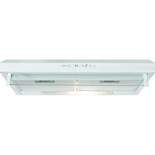 Bomann DU 623.3 Cappa aspirante 60 cm, ricircolo dell'aria o condotto, 3 livelli di potenza, filtri estraibili in alluminio lavabili, bianco