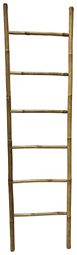 Gedy Panda - Porta Asciugamani, In Bambù, 50 X 4 X 190 Cm