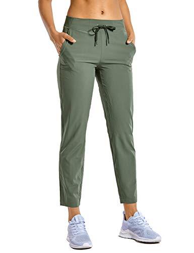 CRZ YOGA Donna Pantaloni Sportivi Casual Leggeri con Coulisse Pantaloni con Tasca Saggio Grigio 44