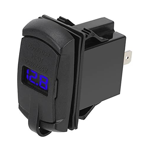 YOWYOM Puertos USB duales 5 V 4.2 A pantalla digital ajuste para coche RV Camper Caravans cargador de coche a prueba de polvo cargador de teléfono universal