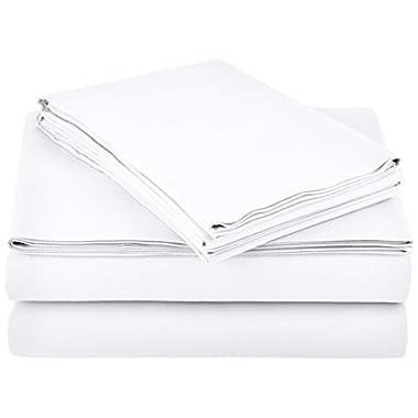 AmazonBasics Microfiber Sheet Set - Queen, Bright White
