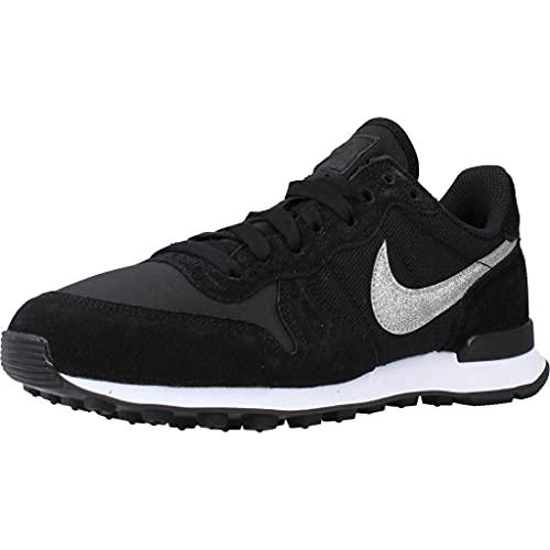 Nike W Internationalist, Zapatillas de Running Mujer, Negro (Black/Black/White 001), 36 EU