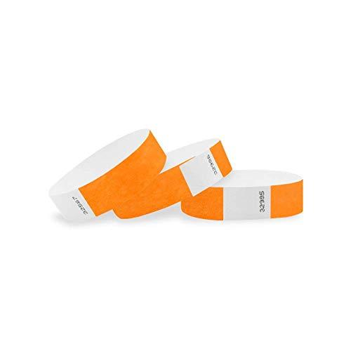Wristco neon arancione 3/10,2cm Clubking Ltd 2500 Count Neon Orange