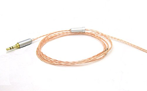 Cable de extensión de audio de repuesto para auriculares B&W Bowers & Wilkins P3 de MiCity  naranja