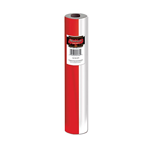 Beistle Rouleau de Table à Rayures Rouge/Blanc 40 x 100 cm