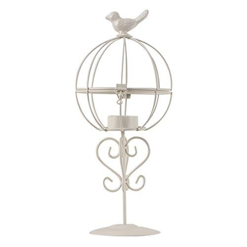 YAOLUU Diseño Elegante clásico Metal Hollow Bird Cage Decorative Birdcage Hierra de la Vela de Hierro, compuertas Decorativas de la Vendimia de la Boda y la Fiesta Palmatoria Decoración (Color : B)
