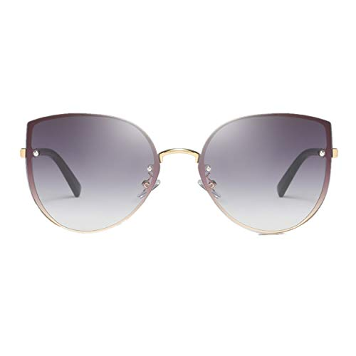 Mode Mann Frauen unregelmäßige Form Sonnenbrille Brille Vintage Retro Style Katzenauge Rahmen Mode UV-Schutz Feifish Damen Sonnenbrille Cat Eye Klassische Sonnenbrillen