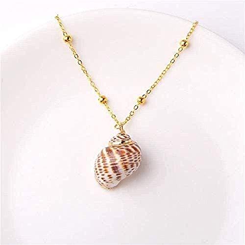 huangshuhua Collar, Collar de Concha, Collar con Colgante de Concha de Playa y mar, Collar de joyería Bohemio de Verano para Mujer, Regalo