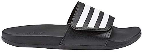 Adidas Men's Adilette Slide Comfort Lightweight Sandal (10), Black/White