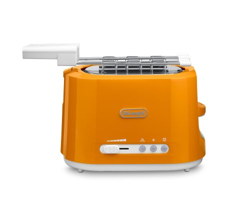 DeLonghi CTE 2303.O - Tostadora, 2 tostadas, 550 W, color naranja y blanco