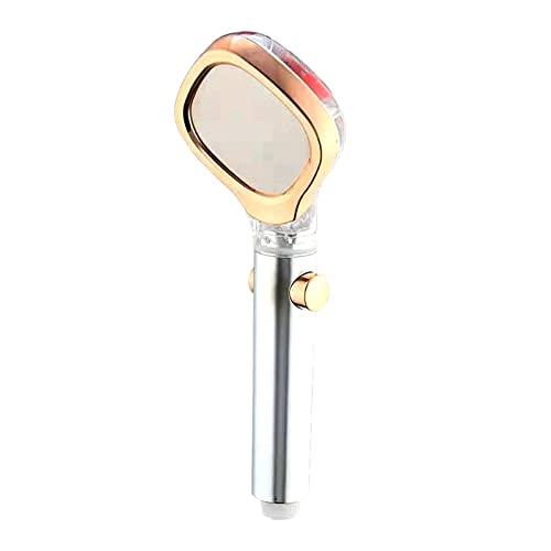 CAIFEIYU Cabezal de Ducha de baño Alta presión una tecla para Detener el Filtro de Cabezal de Ducha para el baño de Agua SPA Boquilla Abdominales Pulverizador de Chapado presurizado