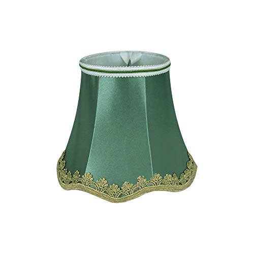 Floral Triming Lámpara de mesa de tela pantallas para vela