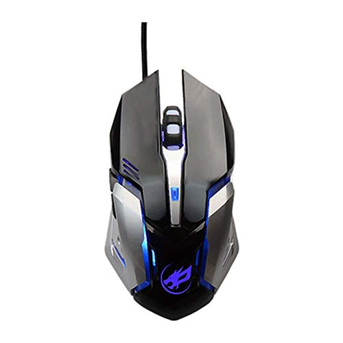 ZXCVB Wired Gaming Mouse Esports Home Office Casual Mouse Game Dedicated Game Four-Color Breathing Backlit Mouse (Color : Black)