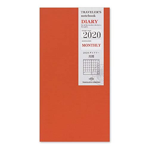 トラベラーズノート 手帳 リフィル 2020年 A5スリム マンスリー 14408006 (2019年 12月始まり)