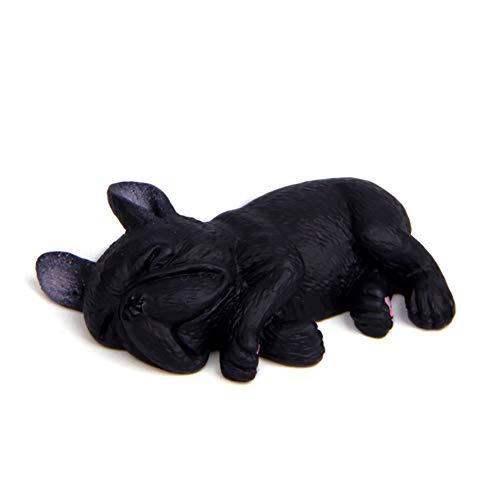 hwangli Doll Figurine Sleeping Lying Dog French Bulldog Toy Car Home Decor 5#