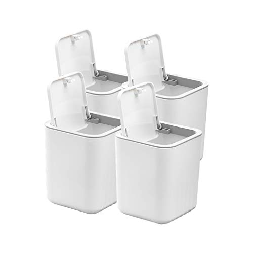 Great Price! 4 Pcs Desktop Mini Compost Bins, Plastic Car with Lid, Creative Bathroom Vanity and Dre...