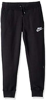 Nike Girls NSW Pe Pant Black/White Large