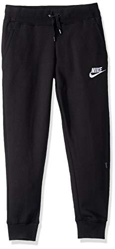 Nike Mädchen G NSW PE Pant Sport Trousers, Black/White, XS