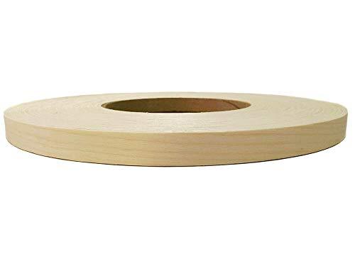 Cinta de borde de chapa de madera prepegada para planchar, borde adhesivo Hotmelt, hoja de borde de madera de fácil aplicación, cereza/arce, fabricado en Estados Unidos (haya, 50)