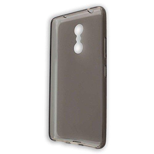caseroxx TPU-Hülle für Lenovo K6 Note, Handy Hülle Tasche (TPU-Hülle in schwarz-transparent)