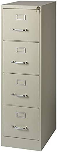 B01N57QFDI✅Scranton and Co 22″ Deep 4 Drawer Letter File Cabinet in Putty, Fully Assembled