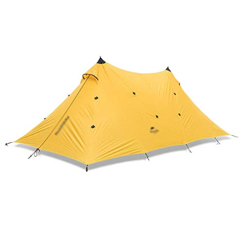 Tents/Tent with Screen Room Double A Tower Large Outdoor Tent Outdoor Barbecue Camping Shelter Shed Camping Picnic Tent Tent for Camping with camping (Color : Yellow)