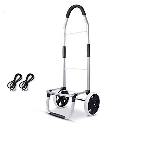 WLG Shopping Carts Für Lebensmittel Mit Rädern Kleine Aluminiumlegierung Trolley Licht Treppensteigen Trolley Falten Tragbarer