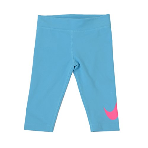 Nike Little Girl's Dri-fit Jersey Capri Leggings (6, Clear Water)