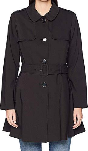 Kate Spade New York Womens Rainwear Trench Coat 34' Black SM