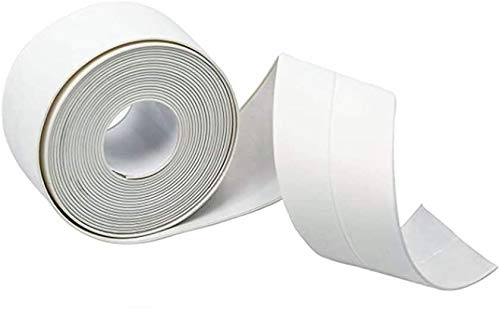 1 Pack Bathtub Caulk Tape Self Adhesive Tub and Wall Sealing Tape Caulk Sealer (White, 1 Pack)