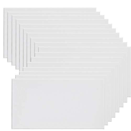 Pack de 1 lienzos 60 x 90 cm de 100% algodón apto para óleo, acrílico y mixto, pre-estirado, color BLANCO. Libre de ácido.