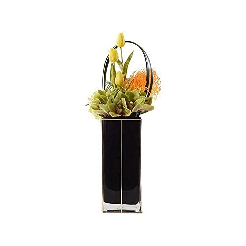 MQH Flor Artificial Flor Artificial con jarrón, Flores Falsas de Seda y Bayas con vástago de plástico para la decoración de la Oficina en casa de Bodas Muebles Festivos Decoración
