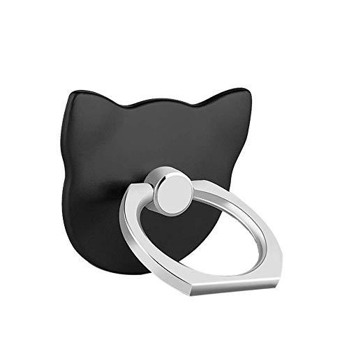 MuStone Soporte para anillo de dedo para teléfono celular, soporte universal para teléfono, soporte de montaje para iPhone XS X 8 7 6 6S 5 5C 5S, Samsung Galaxy S9 S8 S7Edge S7 S6 Nota 8 5 (Negro)
