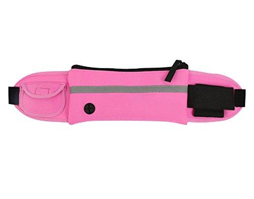 Multifonctionnel Sac de sport en plein air Fitness Backpack Courir Pocket, rose