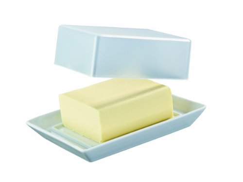 Arzberg Form 3330 Küchenfreunde Butterdose mit Deckel transparent im Geschenkkarton