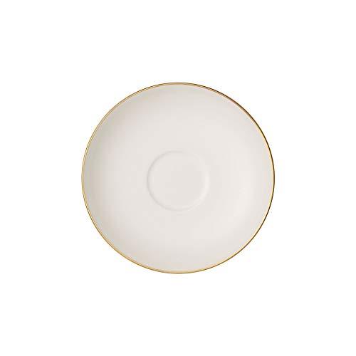 Anmut Gold Mokka- und Espresso-Untertasse, Durchmesser 12 cm, Weiß/Gold