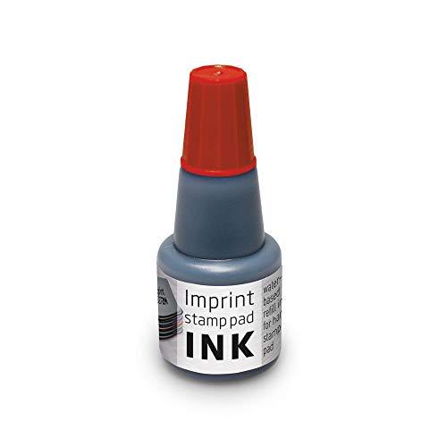 Trodat Imprint Stempelfarbe zum Nachfüllen für Stempelkissen 9072M & 9073M, Wasserbasierend Rot