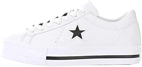 Converse Lifestyle One Star Platform Ox, Scarpe da Ginnastica Basse Bambina, Bianco (White/Black/White 102), 35 EU