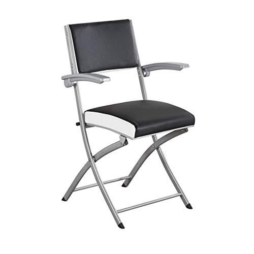 ECSD Metall Stahl Klappstuhl Tragbare PU Gepolsterter Sessel Bürostuhl Konferenz Esszimmerstuhl Heimcomputer Stuhl