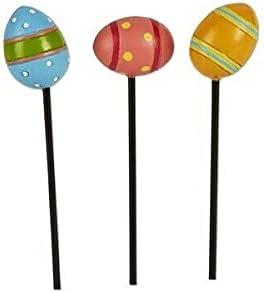 Easter Decor Max 43% OFF - Fairy Memphis Mall Garden Mini Set Stakes 3pc Egg