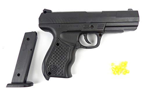 Evil Wear Spielzeug-Pistole Kinder Softair-Waffe Toy-Gun schwarz Federdruck 0,2J Set