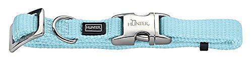 HUNTER VARIO BASIC ALU-STRONG Halsung, Hundehalsband, Nylon, Aluminium Steckverschluss, M, hellblau